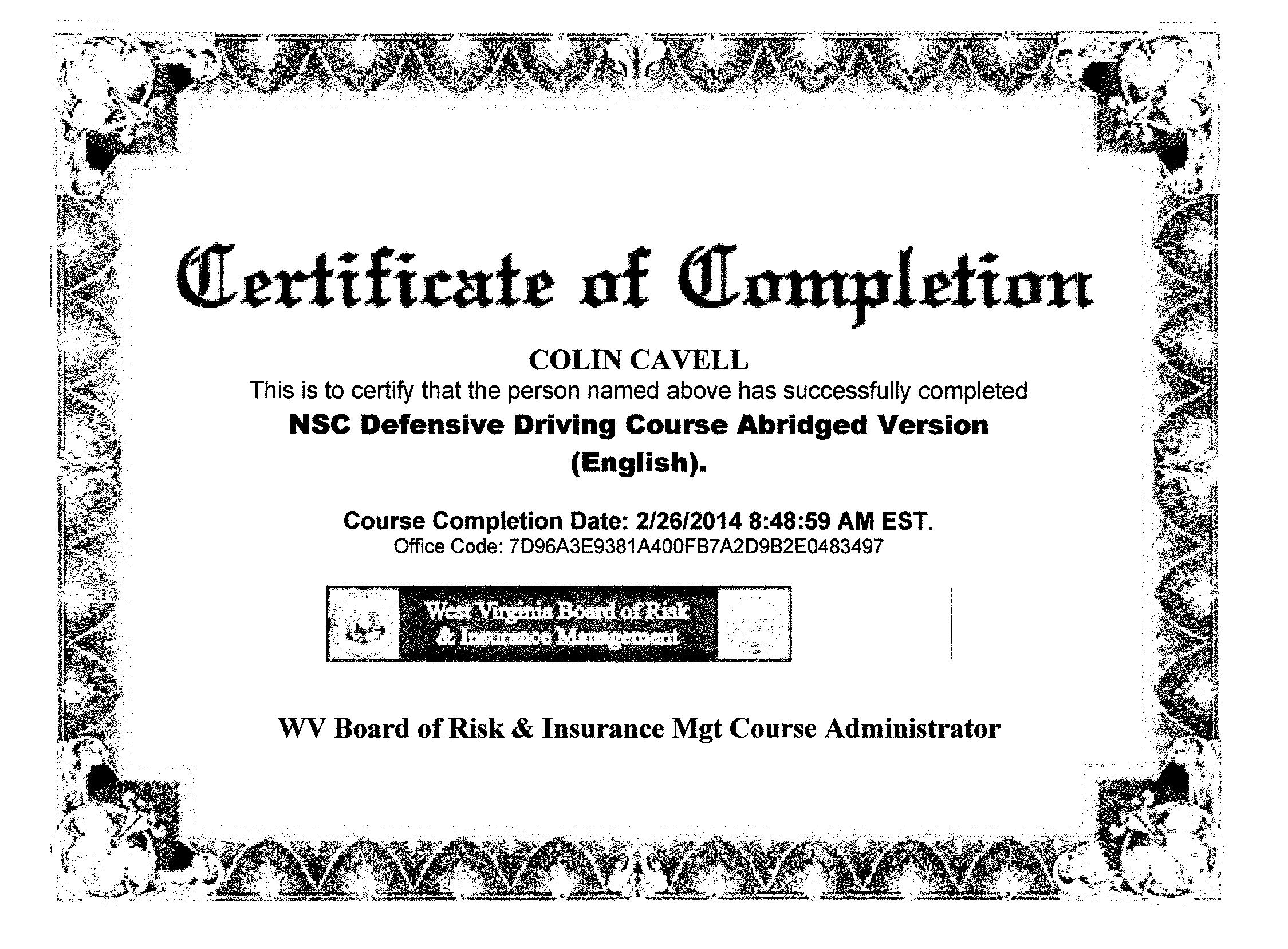 Nsc Defensive Driving Course Answers